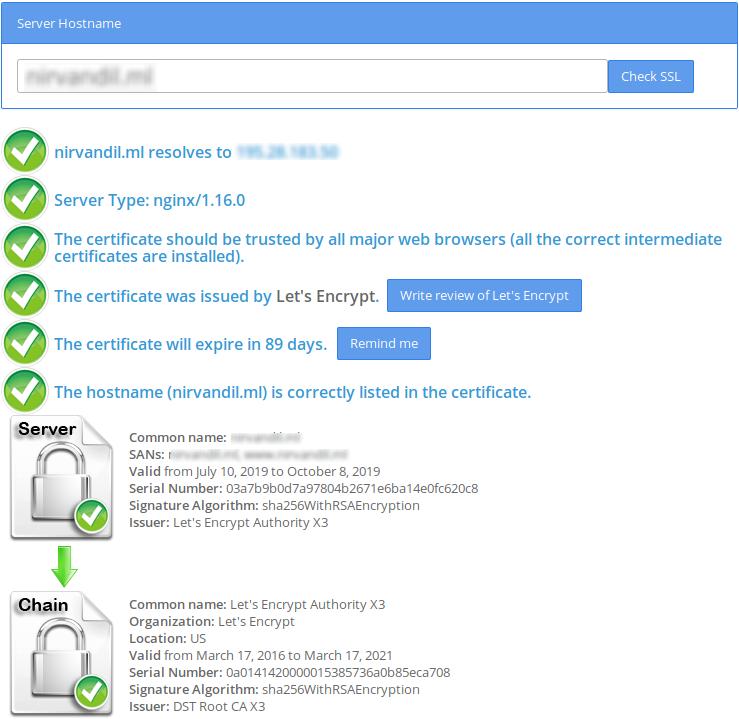 Установка Let's Encrypt на сервер