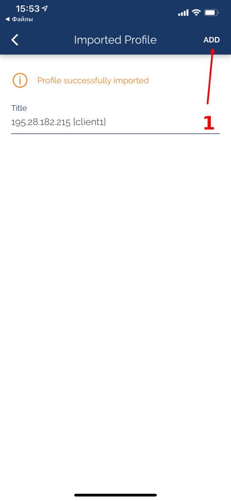 Настройка OpenVPN клиента на IOS