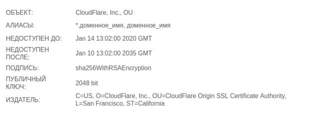 VestaCP и HTTPS (SSL) от CloudFlare