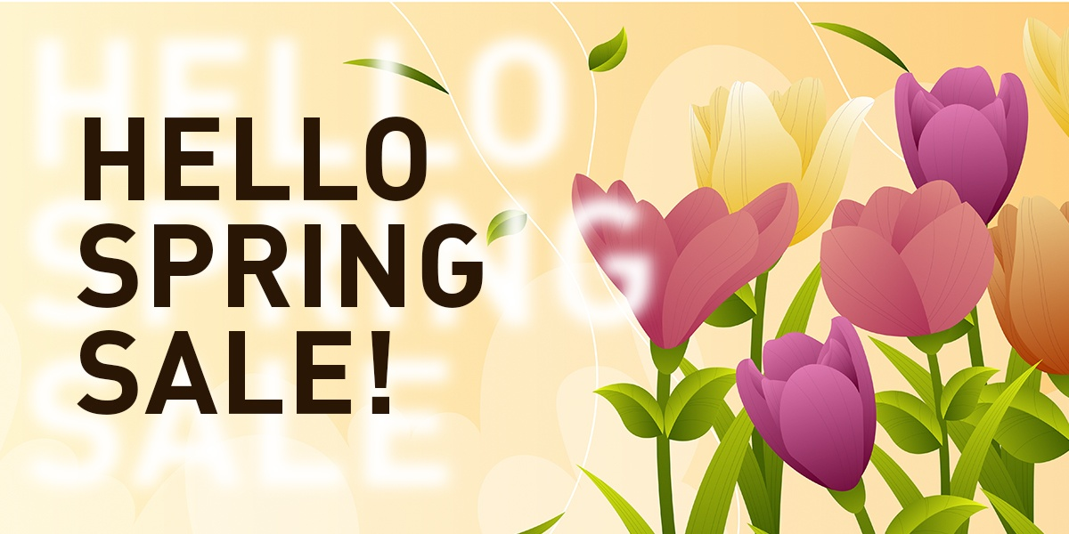 Spring sale 2021. Up to 55% discounts